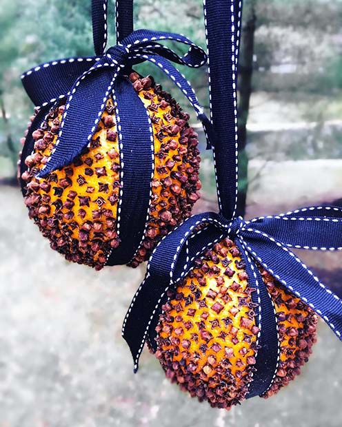 Orange Tree Decorations