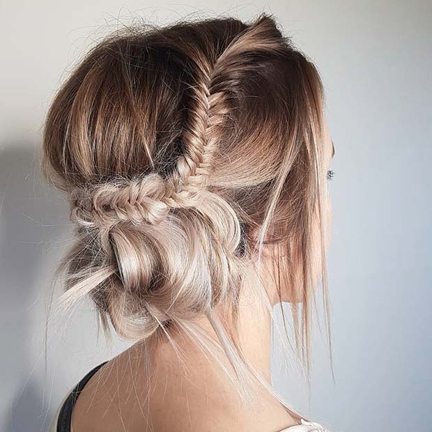 Relaxed Fishtail Updo