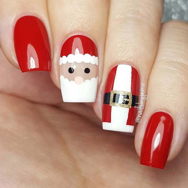 29 Festive Christmas Nail Art Ideas Page 2 Of 2 Stayglam