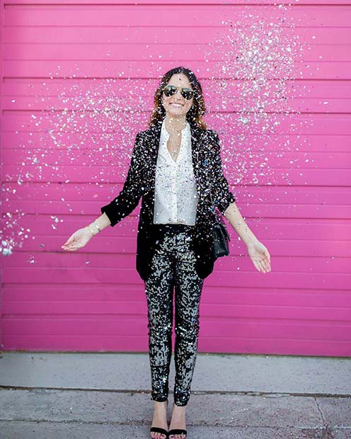Sequin Suit for NYE