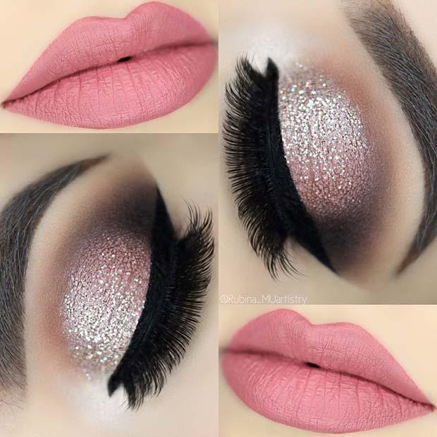 Sparkling Pink Makeup Look