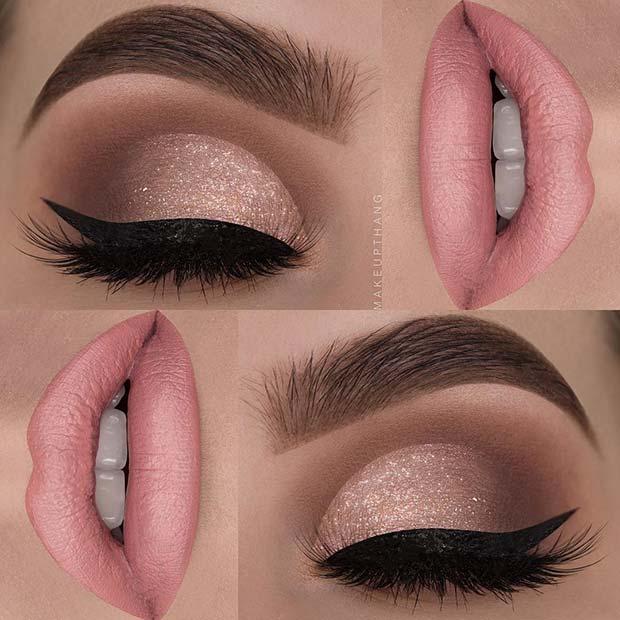 Subtle Shimmer Eye Makeup Look