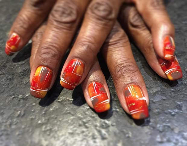 Trendy Thanksgiving Nail Idea