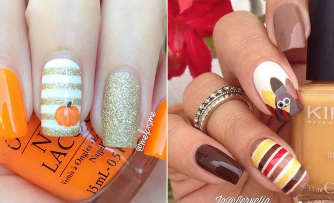 21 Cute Thanksgiving Nail Ideas Stayglam