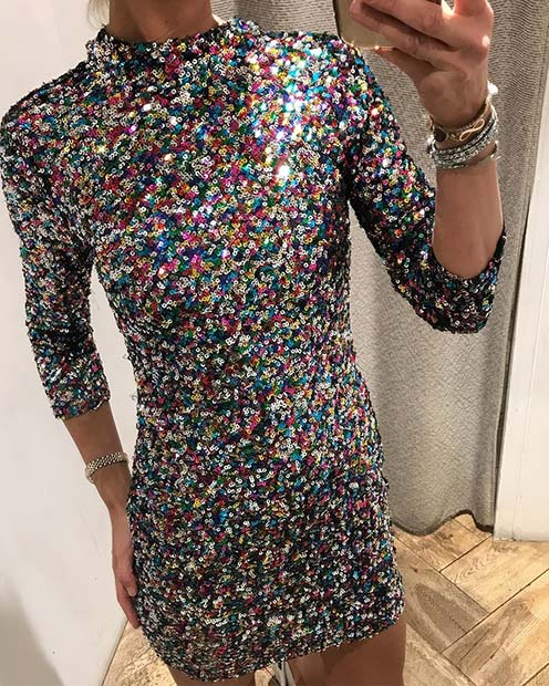 Vibrant Sequin Dress
