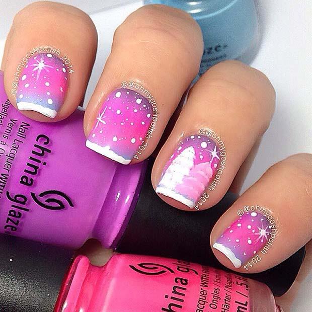 Vibrant Winter Nails