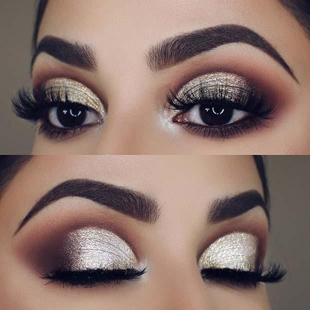 Champagne Glitter Smokey Eye