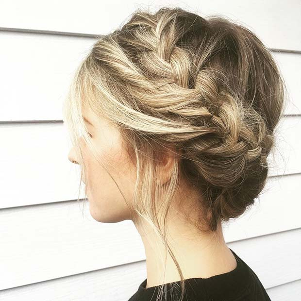 Braided Crown Updo Idea