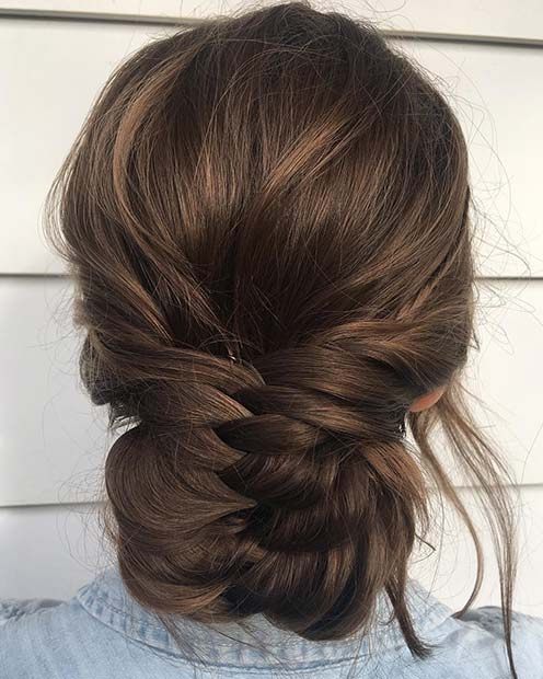 Braided Low Bun