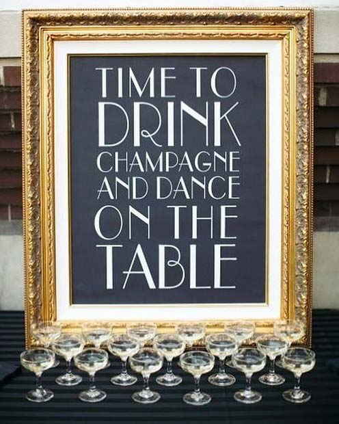 Champagne Sign for NYE