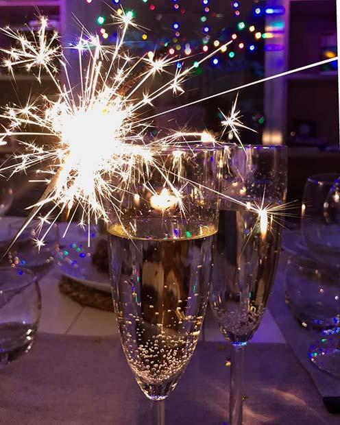 Champagne Sparklers for NYE
