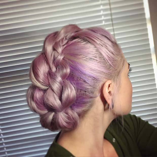 Edgy Braided Updo