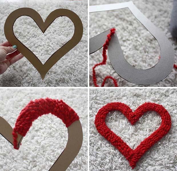Cute DIY Wool Heart