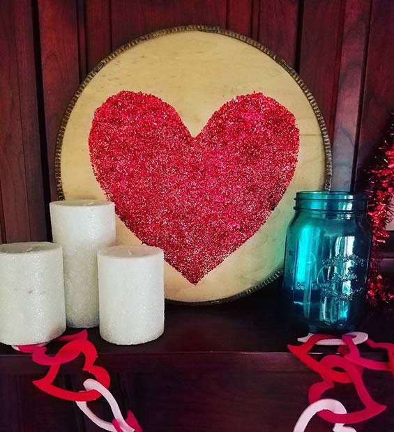 Heart Mantle Decor