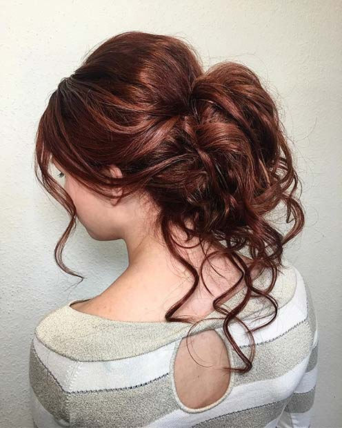 Loose Curled Updo