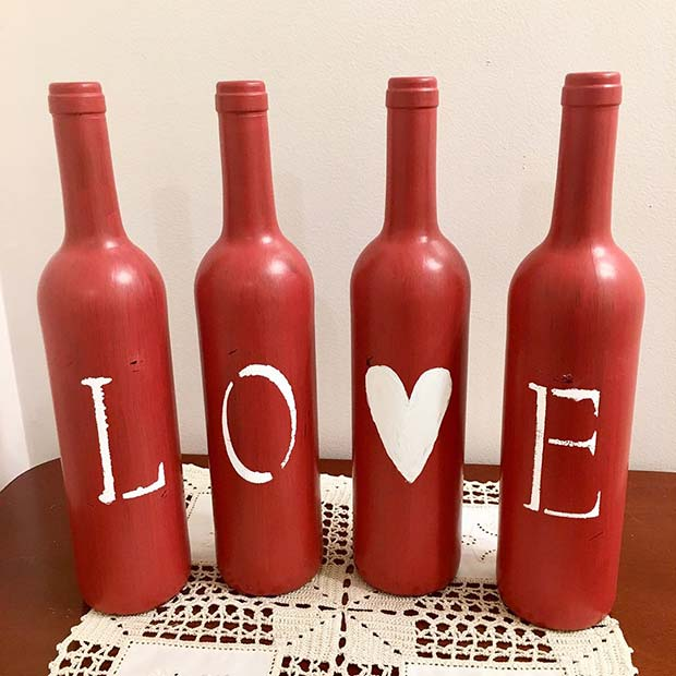 Love Bottle Valentine's Day Decor