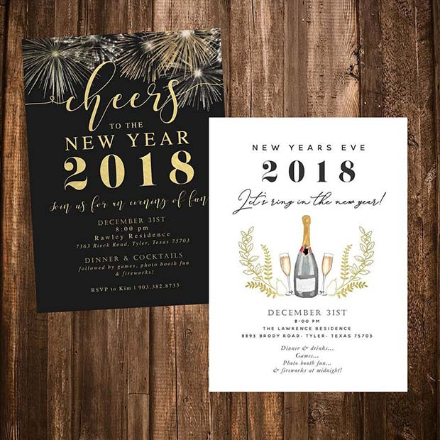 23 New Years Eve Party Ideas Page 2 Of Stayglam Nye Invitations