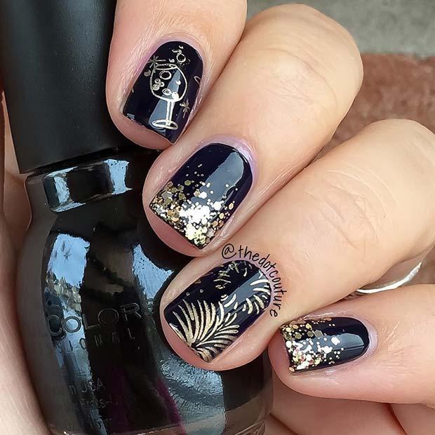 NYE Theme Nails