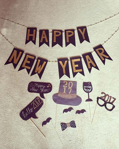 New Year Party Photo Prop