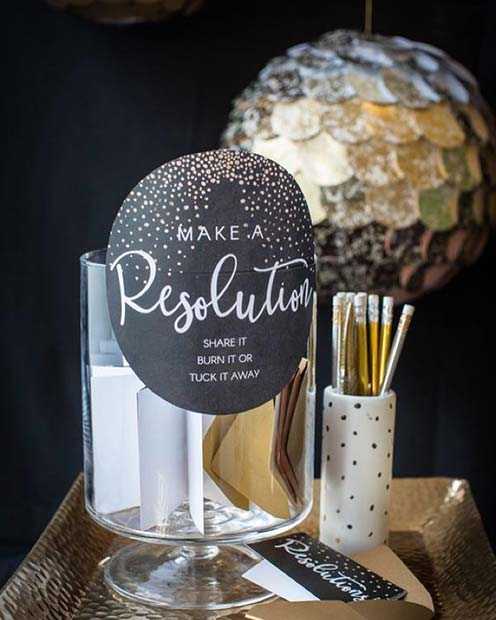 New Years Resolution Party Idea