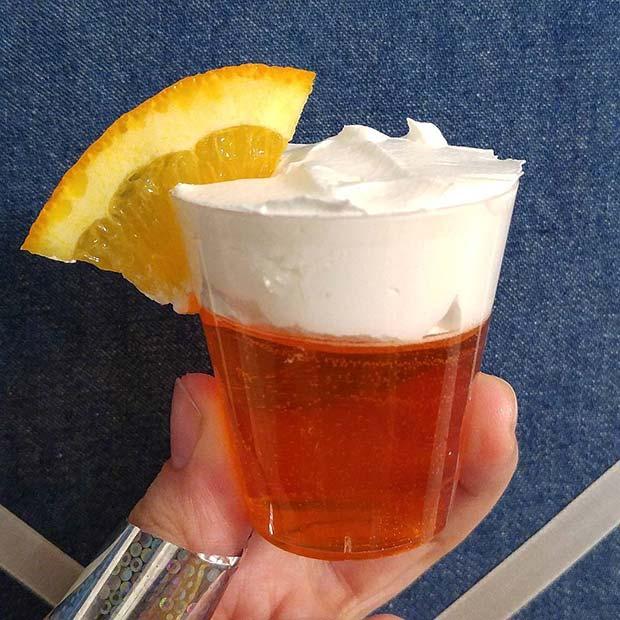 Orange Jello Shot Idea