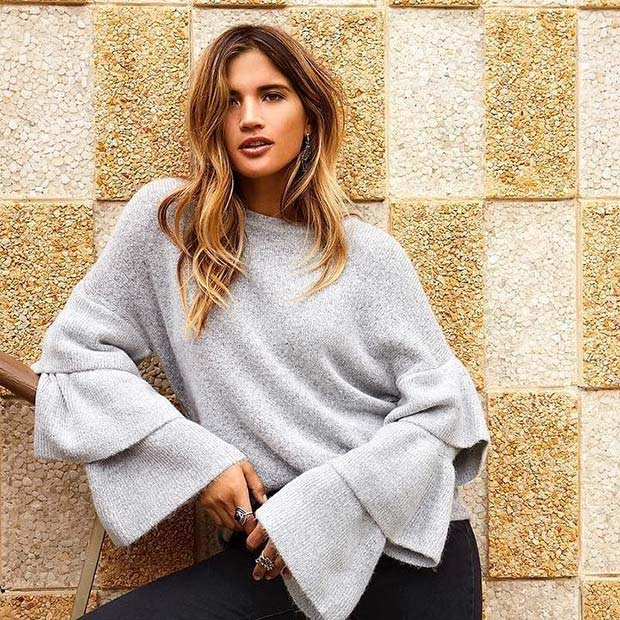 Statement Sleeve Sweater
