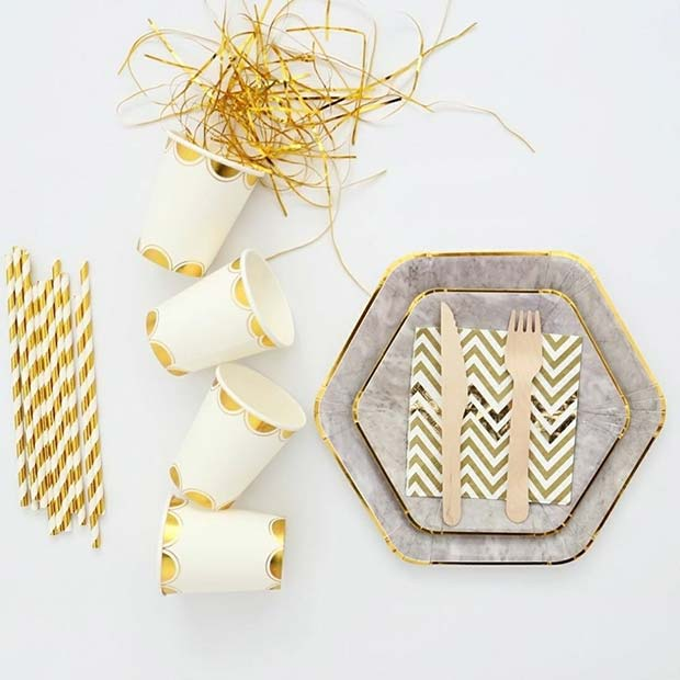 Stylish Party Tableware for NYE