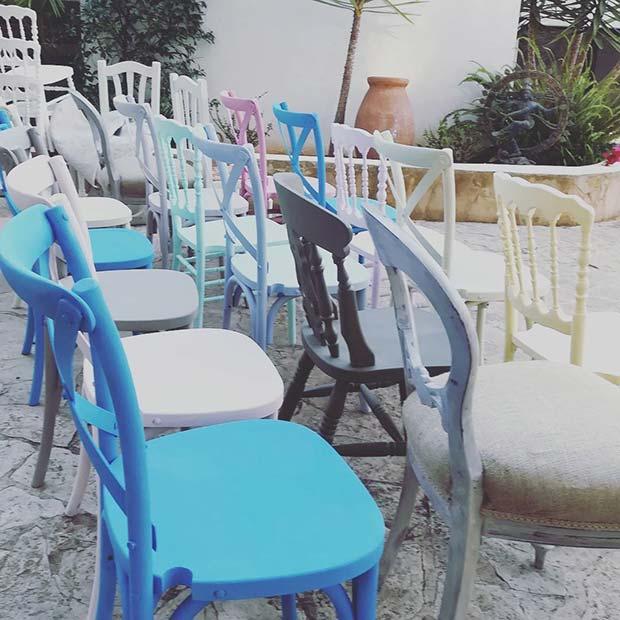 Vibrant Odd Wedding Chairs