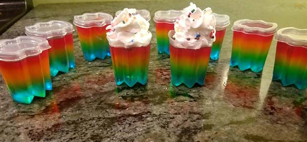 Vibrant Rainbow Jello Shots