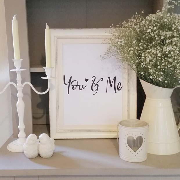 You and Me Print Decor Idea