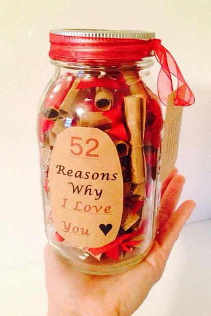 52 Reasons Why I Love You Jar