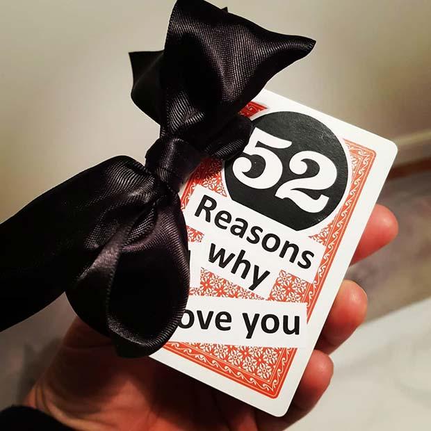 52 Reasons Why I Love You DIY Gift