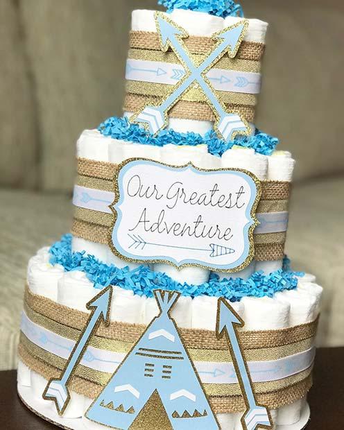 Adventure Diaper Cake Idea