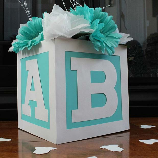 Baby Block Centerpiece
