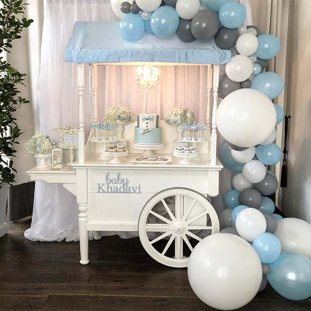 Baby Shower Dessert Cart Idea