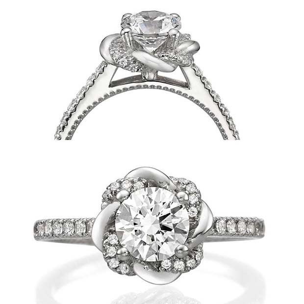 Beautiful Floral Diamond Ring