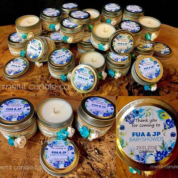 Candle Party Favor Idea