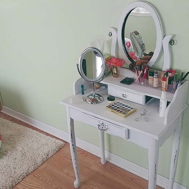 with dressing cheap table meganknight drawers org mirror small vanities vintage black vanity bedroom and desks