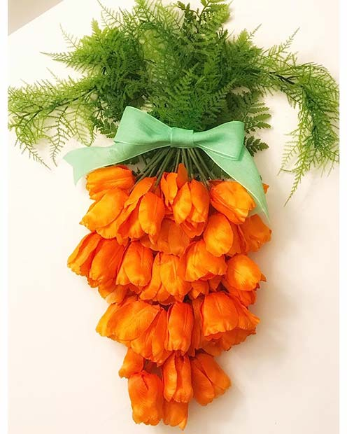 Creative Carrot Flower Arrangement for Easter