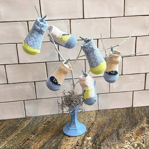 Creative Baby Sock Tree