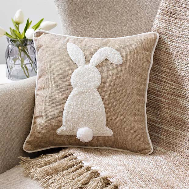 Cute Rabbit Easter Pillow