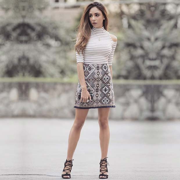 Cute Top and Skirt