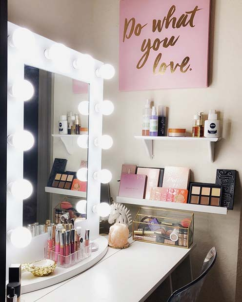 23 must have makeup vanity ideas stayglam for Cute makeup vanity