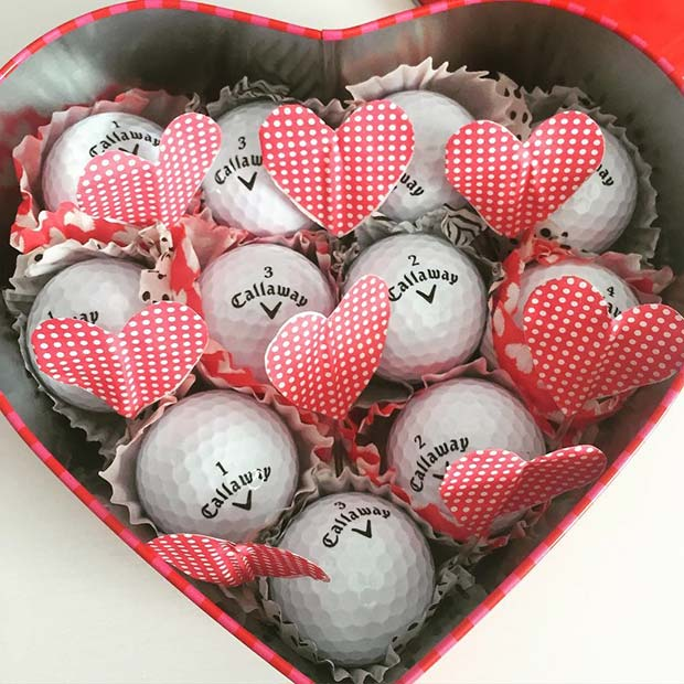 DIY Golf Ball Gift