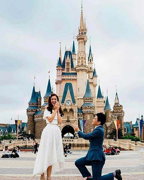 Cute Disney Wedding Proposal