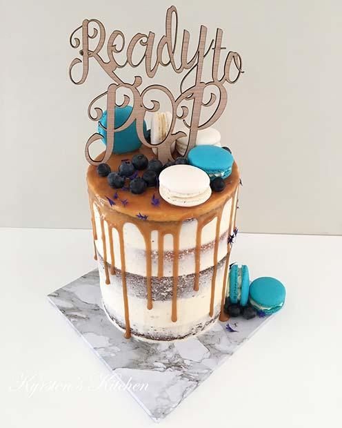 Funny Ready to Pop Baby Shower Cake Idea