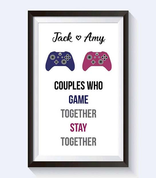 Gamer Personalized Print