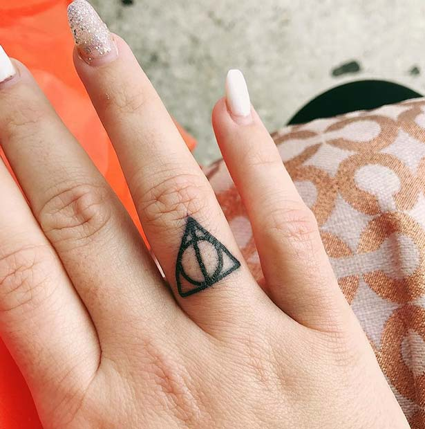 Harry Potter Finger Tattoo