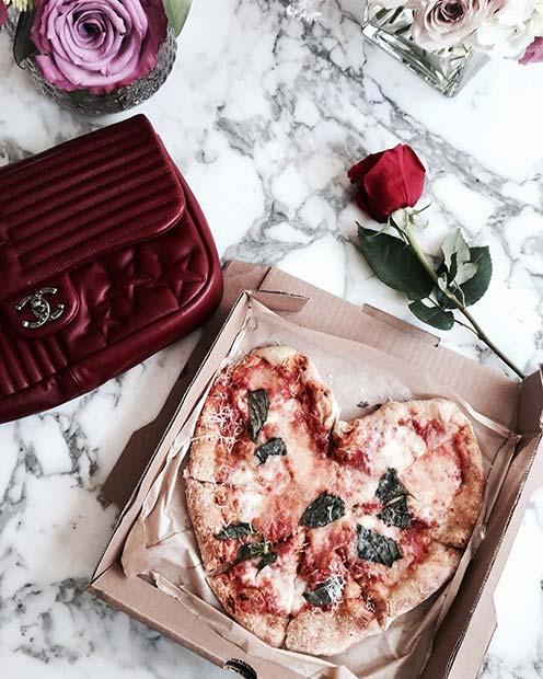 Heart Pizza and Treats