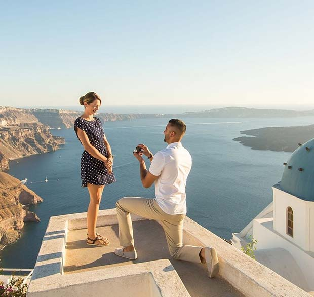 Wedding Proposal Idea in Greece